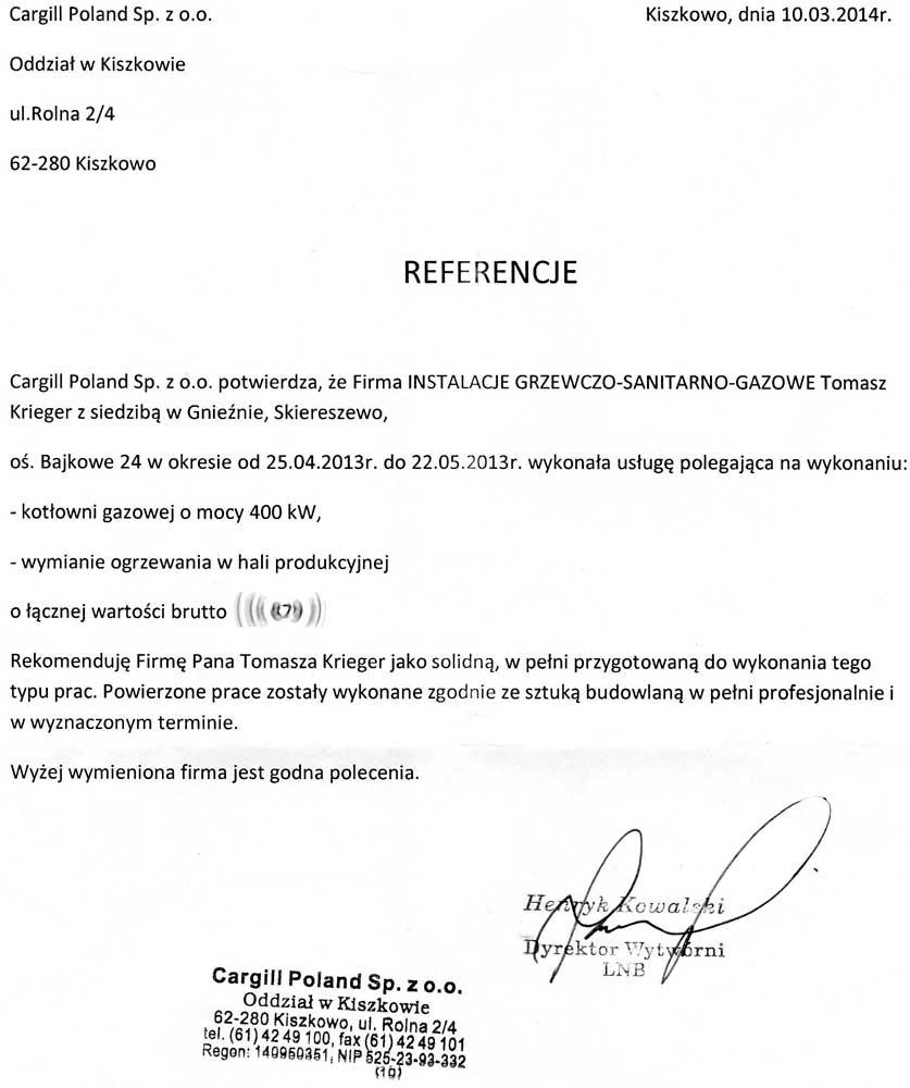 Instalacje Grzewczo Sanitarno Gazowe Tomasz Krieger